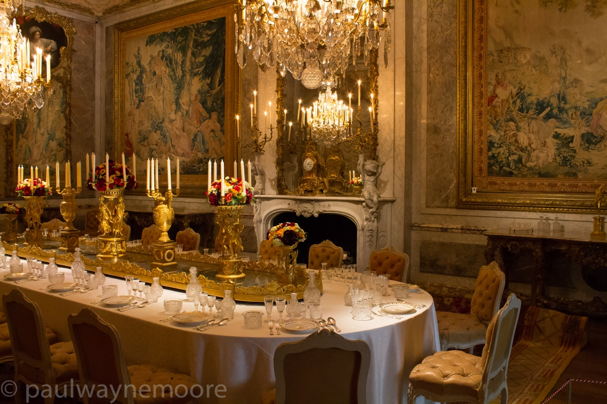 Waddesdon Manor- marble and gold dining room